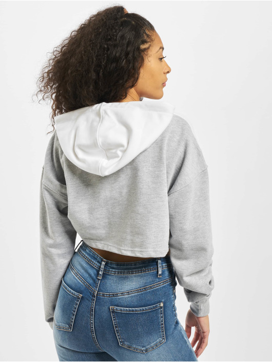 Missguided Hoodies Co Ord Reflective Contrast bílý