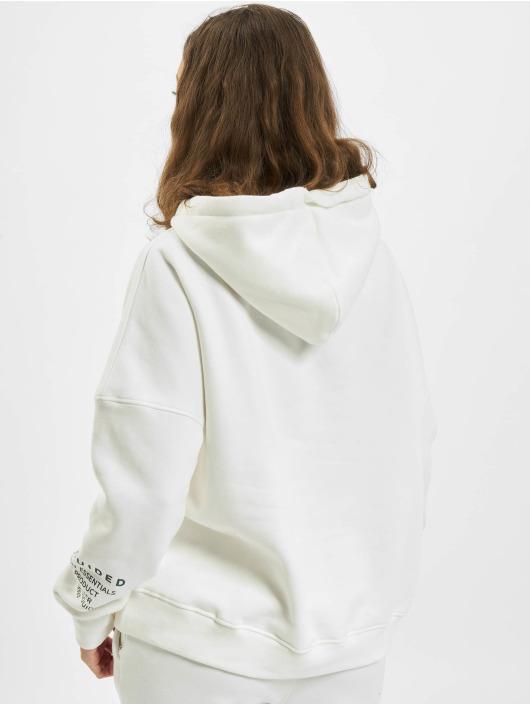 Missguided Hoodies Mishort Sleeveguided Branded bílý