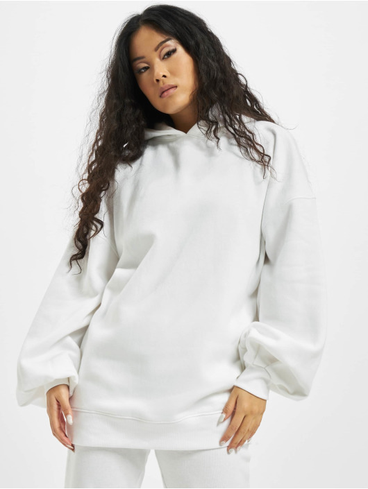 Missguided Hoodies Oversize bílý