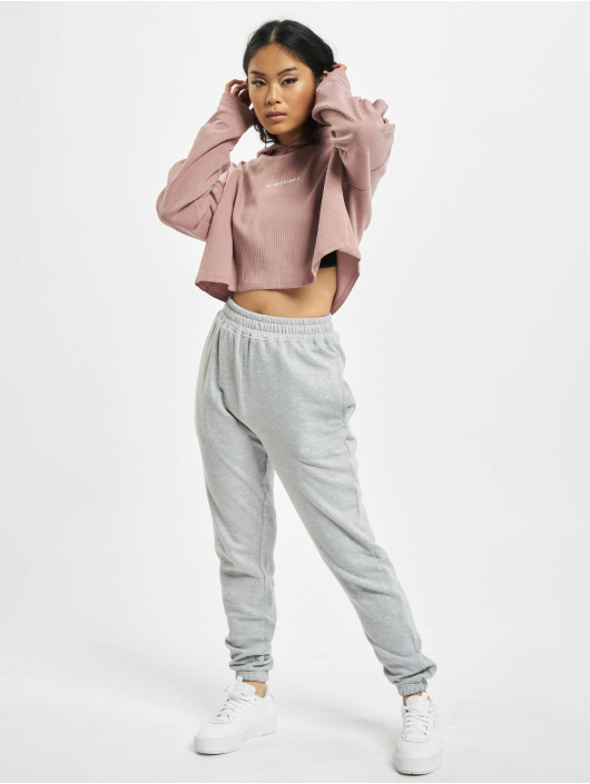 Missguided Hoodies Cropped fialový
