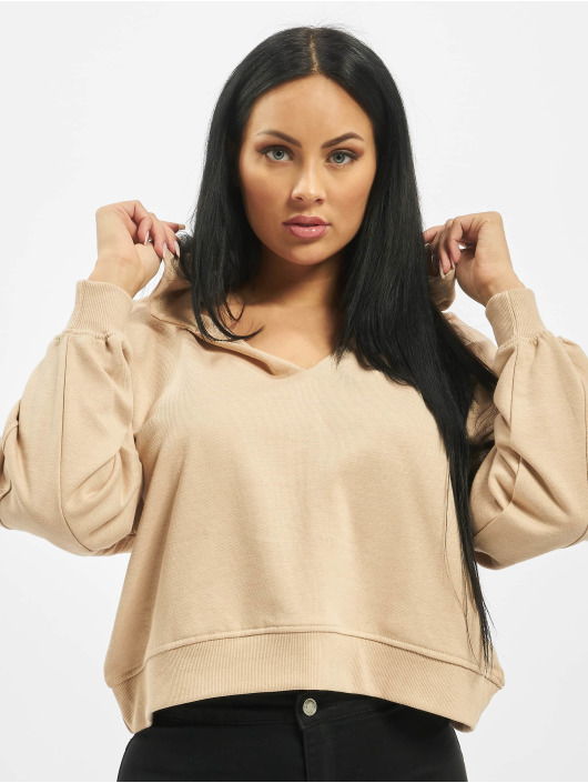 Missguided Hoody Tall Oversized Notch Neck beige