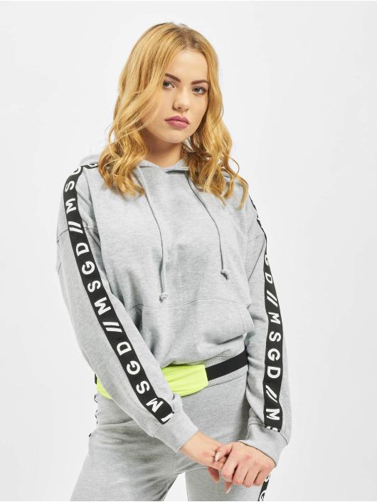 Missguided Hoody Slogan Sleeve Lounge grau