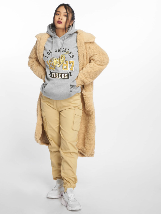 Missguided Hoody Los Angeles Tigers Graphic grijs