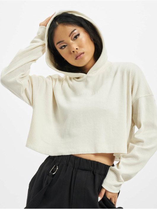 Missguided Hoody Cropped weiß