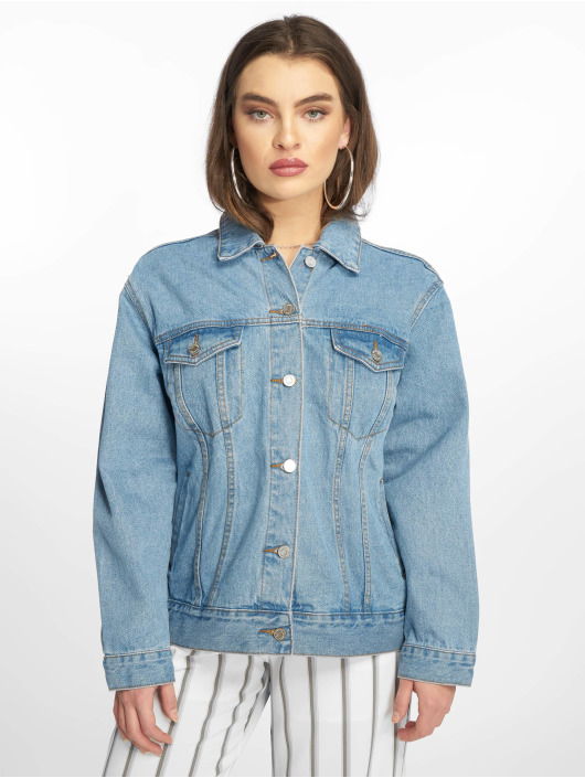 Missguided Jean Jakker Oversized blå