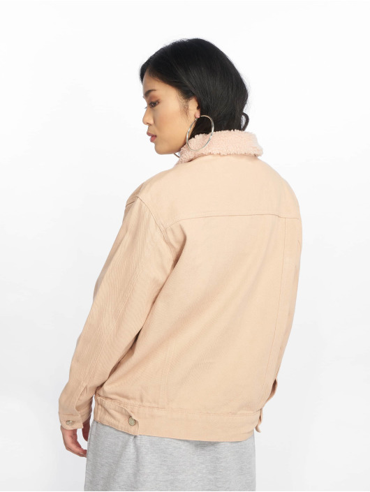 Missguided Jean Jakker Oversized Teddy Faux rosa