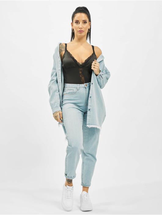 Missguided Jeans Maman Utility Button Plain Riot bleu