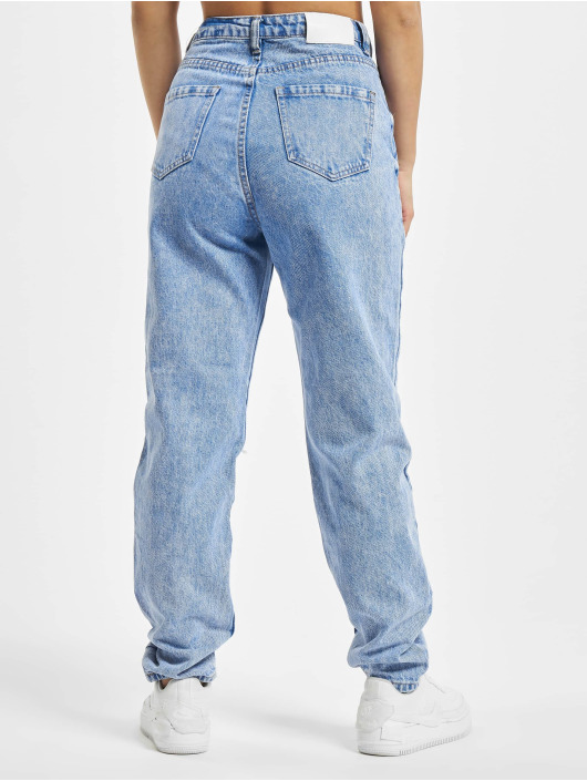 Missguided Jeans Maman Riot Single Busted Knee bleu
