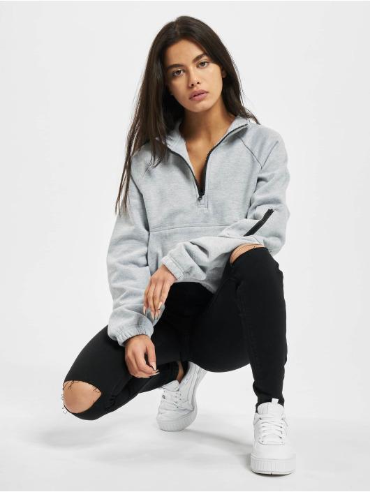 Missguided Jeans slim fit Vice Highwaisted Slash Knee nero
