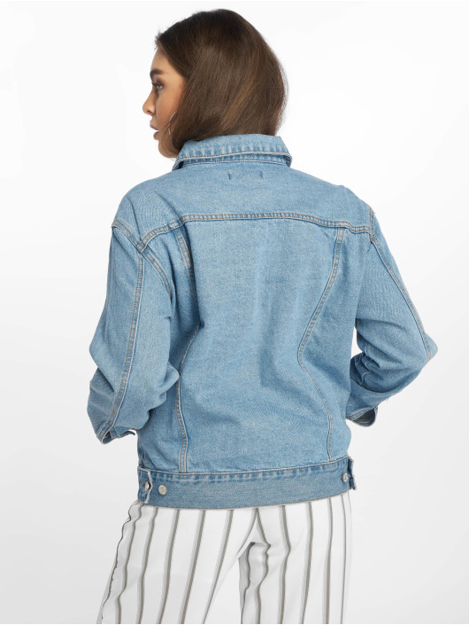 Missguided Jeansjacken Oversized blau