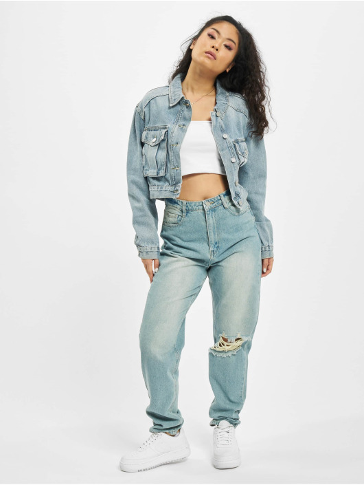 Missguided Jeansjacken Utility blau