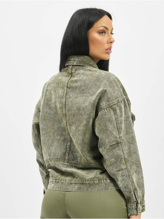 Missguided Jeansjacken 80s Batwing Oversized Denim khaki