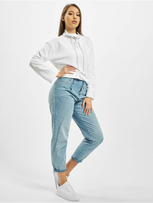 Missguided Jersey High Neck Tie Detail blanco