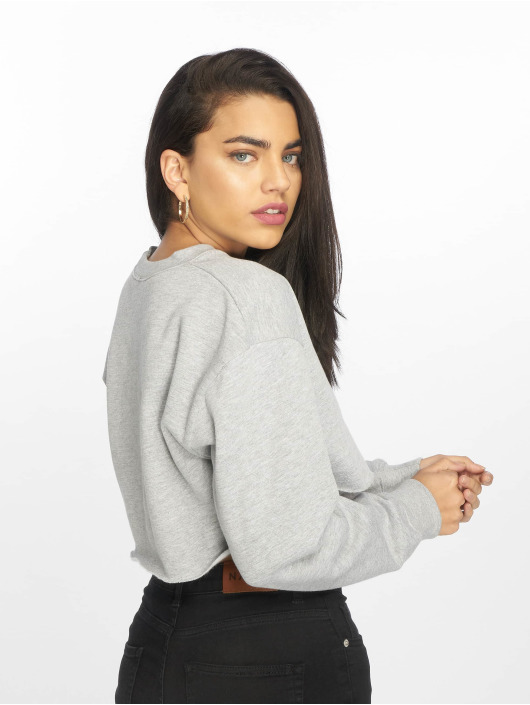 Missguided Jersey Notch Neck gris