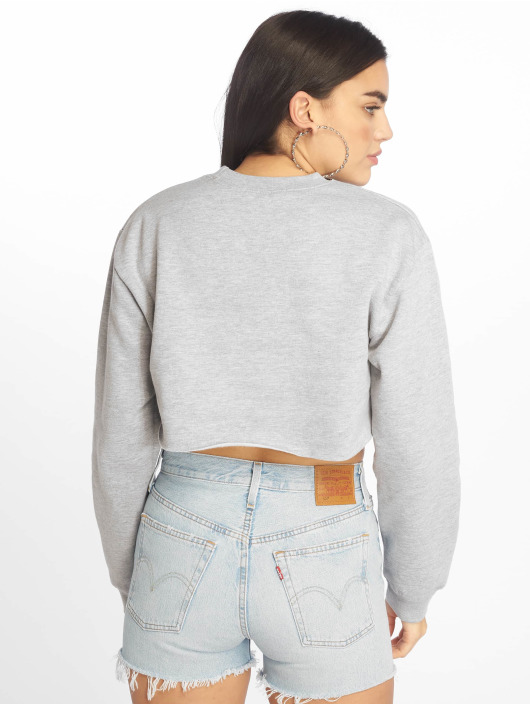 Missguided Jersey Cropped gris