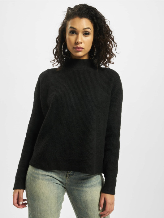 Missguided Jersey Tall Cut Out Crew Neck negro