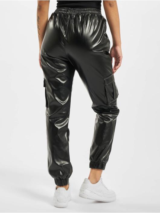 Missguided Jogging kalhoty Contrast Stitch PU Utility čern