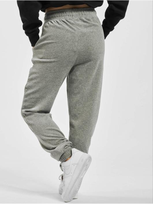 Missguided Jogging kalhoty Ribbed Velour Lounge šedá