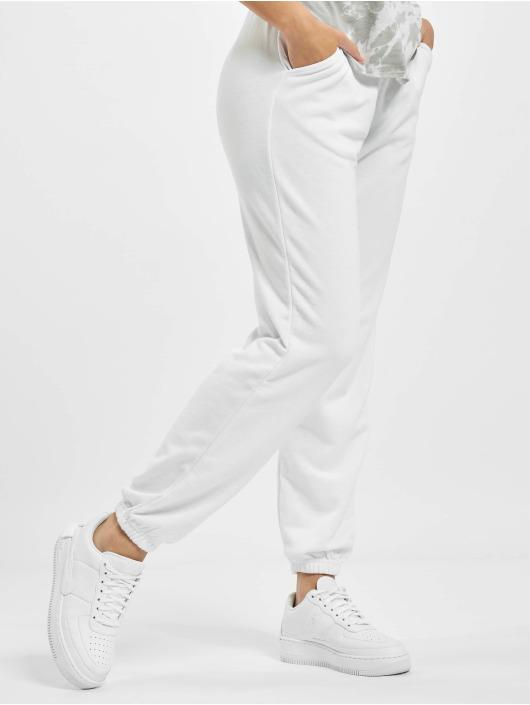 Missguided Jogging kalhoty 90s Oversized bílý