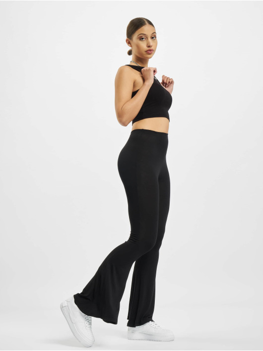 Missguided joggingbroek Jersey Flare zwart