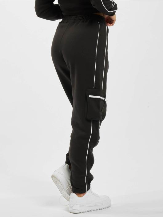 Missguided Jogginghose Co Ord Contrast Pipe Pocket schwarz
