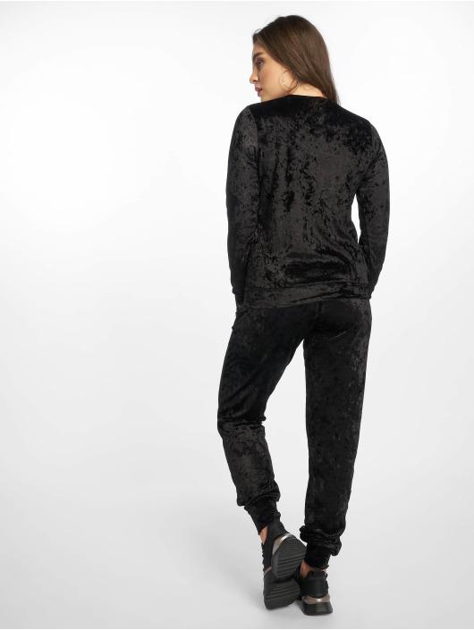 Missguided Joggingsæt Velvet Loungewear sort