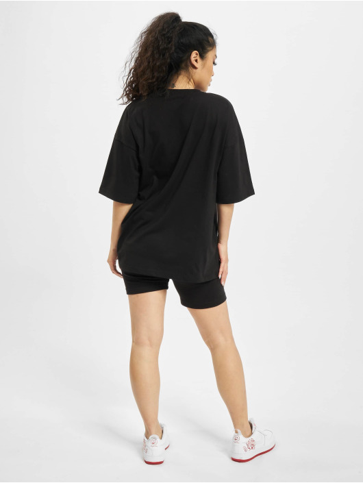 Missguided Joggingsæt Coord Tshirt & Cycling sort