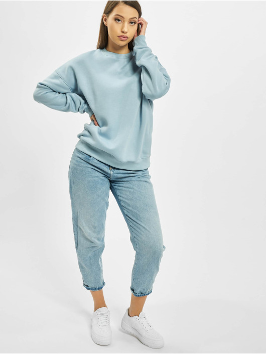 Missguided Jumper Oversized Crew Neck blue
