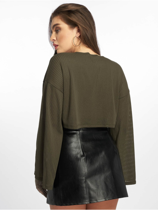 Missguided Jumper Ribbed Flare olive