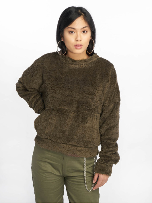 Missguided Jumper Borg Pocket Front olive