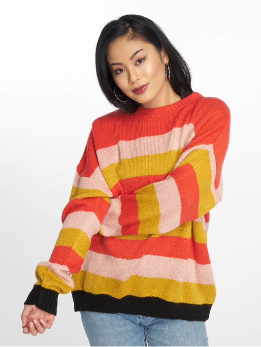 Missguided Jumper Colourblock Stripe red