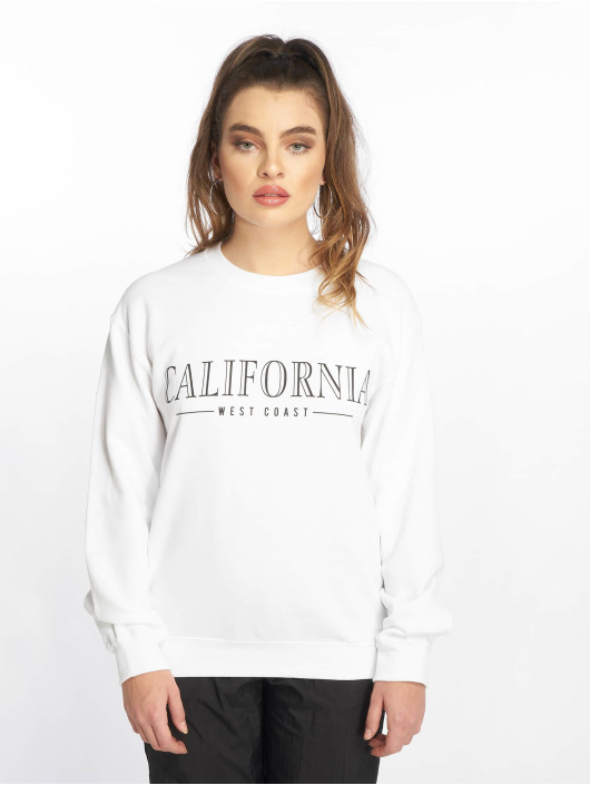 Missguided Jumper California Slogan white