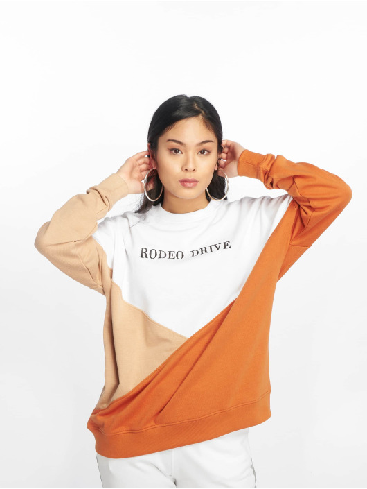 Missguided Jumper Rodeo Drive Colourblock white