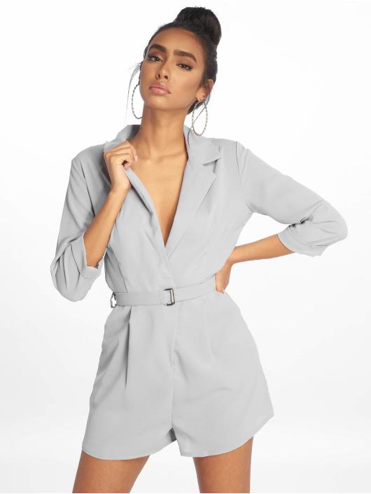 Missguided Jumpsuit Wrap Blazer grau
