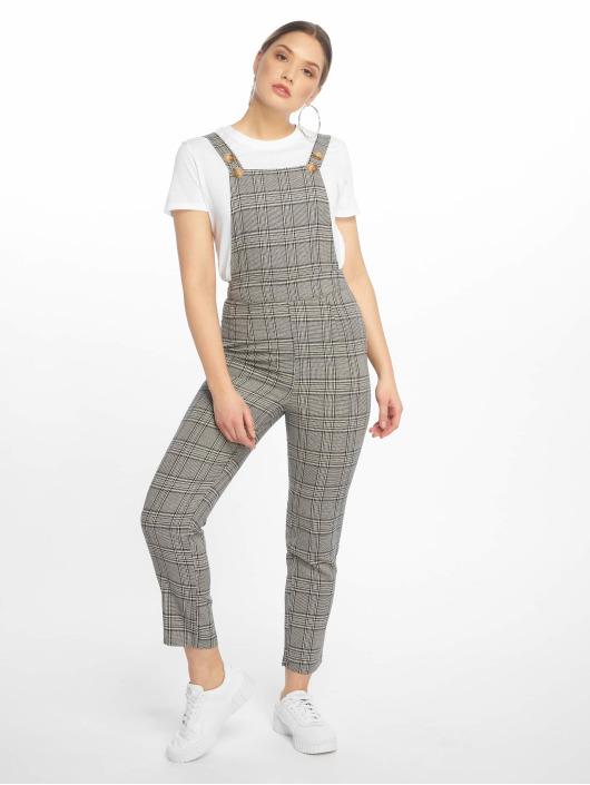 Missguided Jumpsuit Grey Check grau