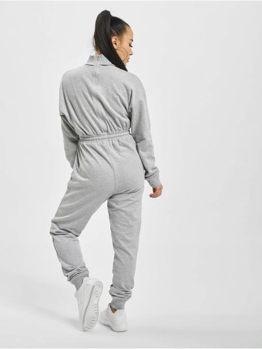 Missguided Jumpsuit Roll Neck Drop grigio