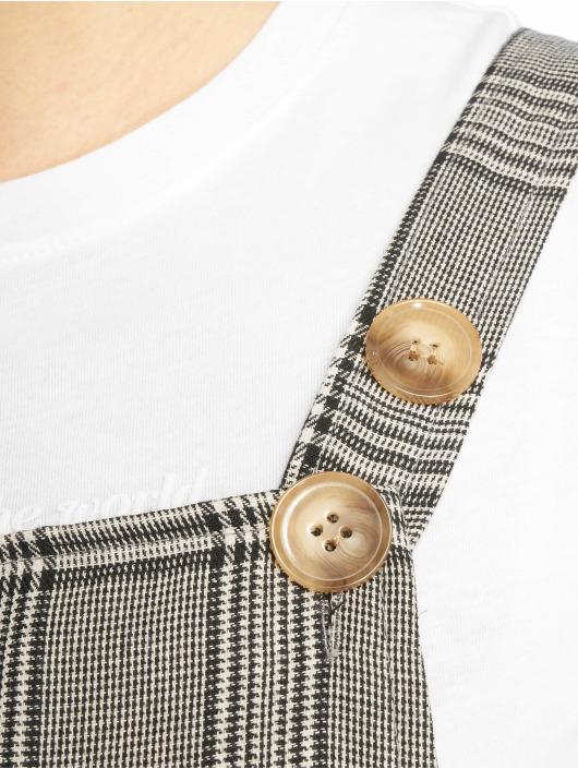 Missguided jumpsuit Grey Check grijs
