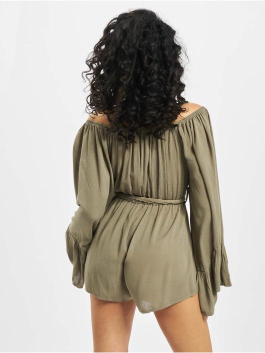 Missguided Jumpsuit Bardot Crinkle khaki