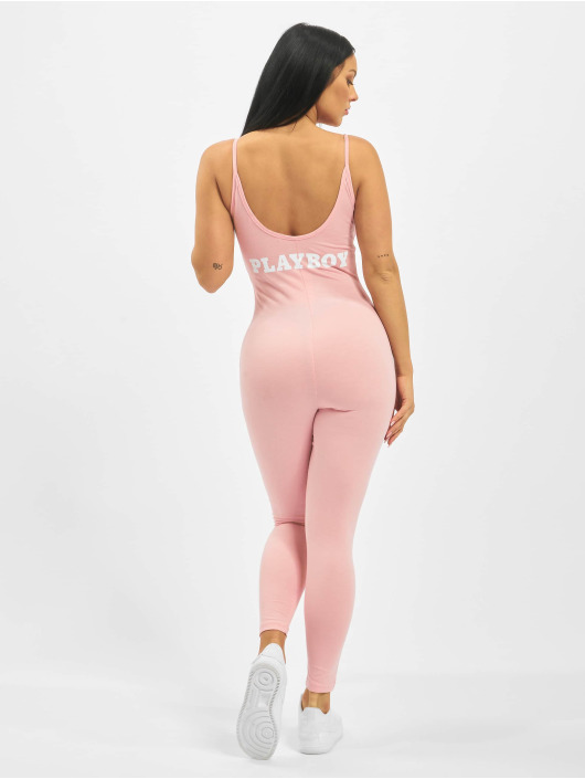 Missguided Jumpsuit Playboy Low Back Lounge rosa
