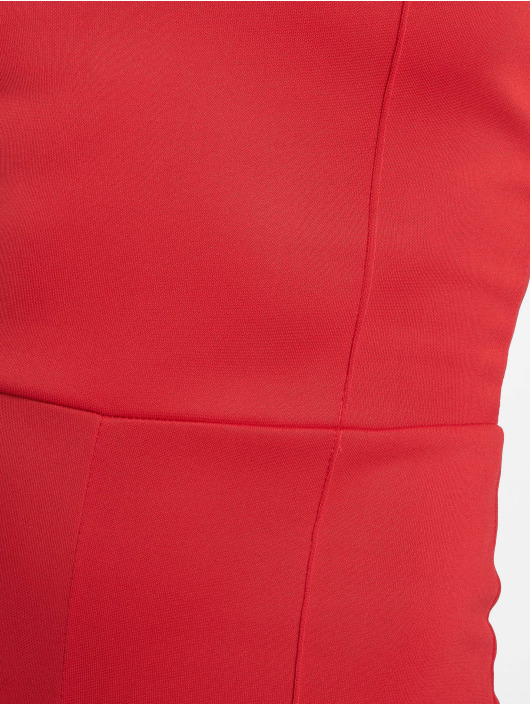 Missguided Jumpsuit Square Neck Pintuck Flare rot