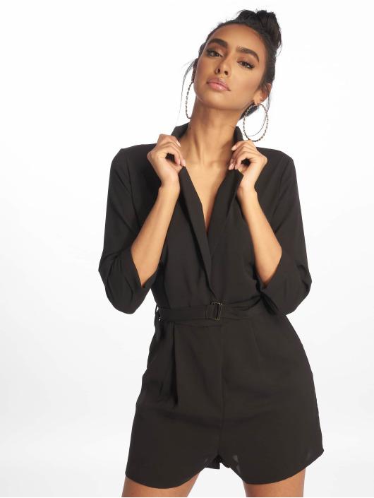 Missguided Jumpsuit Wrap Blazer schwarz