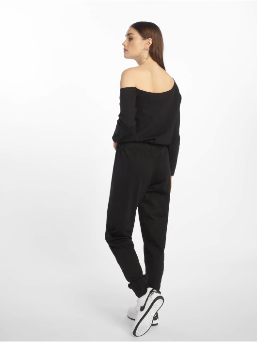 Missguided Jumpsuit Tall Loopback Off The Shoulder schwarz