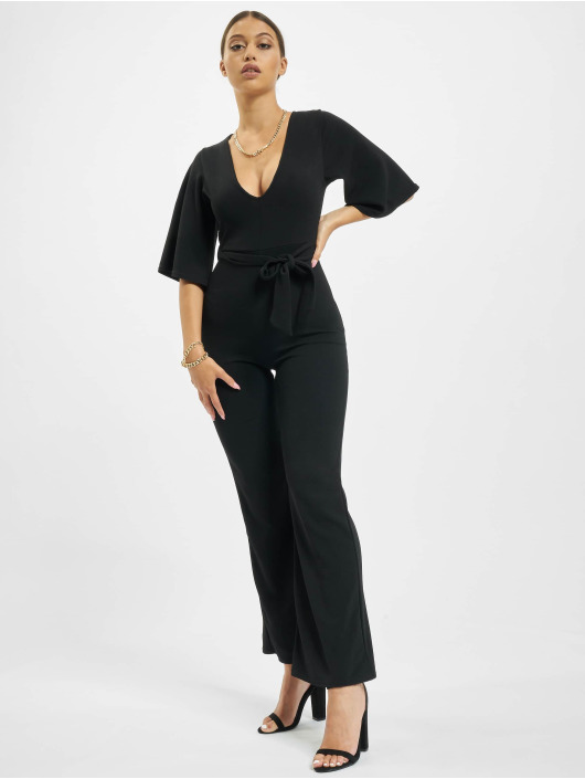 Missguided Jumpsuit Petite Kimono Sleeve schwarz