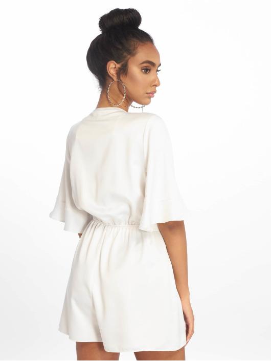 Missguided Jumpsuit Satin Kimono Sleeve weiß