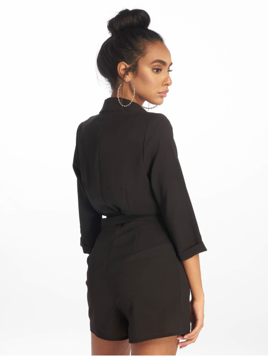 Missguided jumpsuit Wrap Blazer zwart