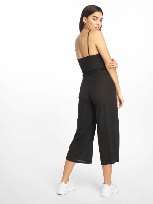 Missguided jumpsuit Black Rib Culotte zwart