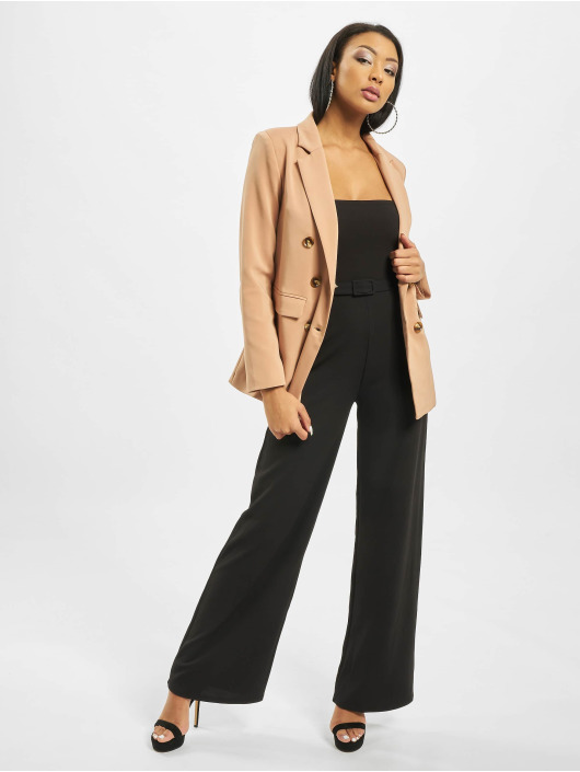 Missguided jumpsuit Bandeau Self Buckle Wide Leg zwart