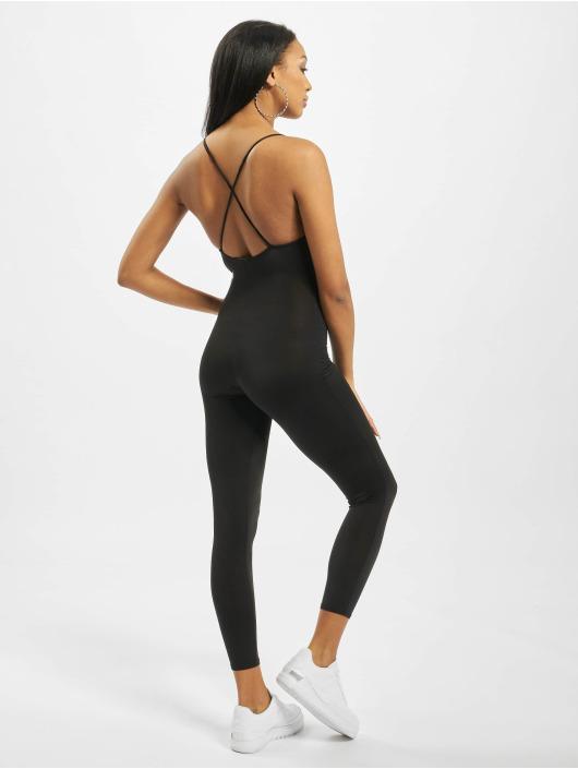 Missguided Jumpsuits Slinky Strap Back Unitard čern
