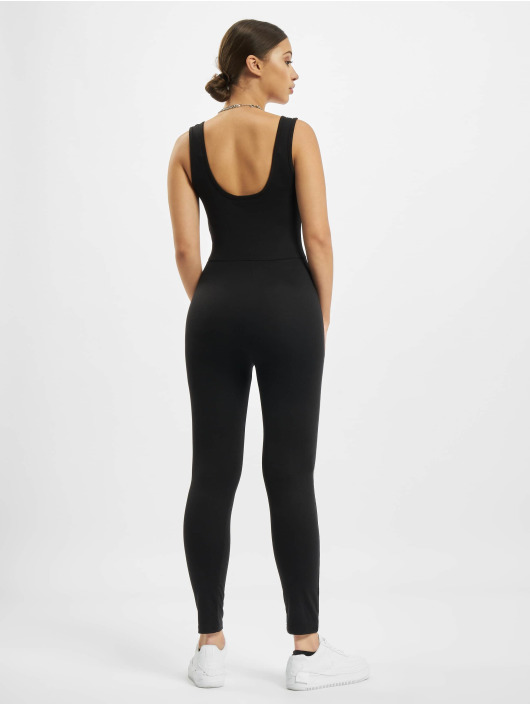 Missguided Jumpsuits Scoop Neck Skinny Leg Unitard čern