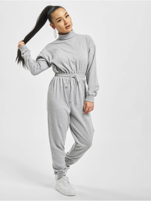 Missguided Jumpsuits Roll Neck Drop šedá